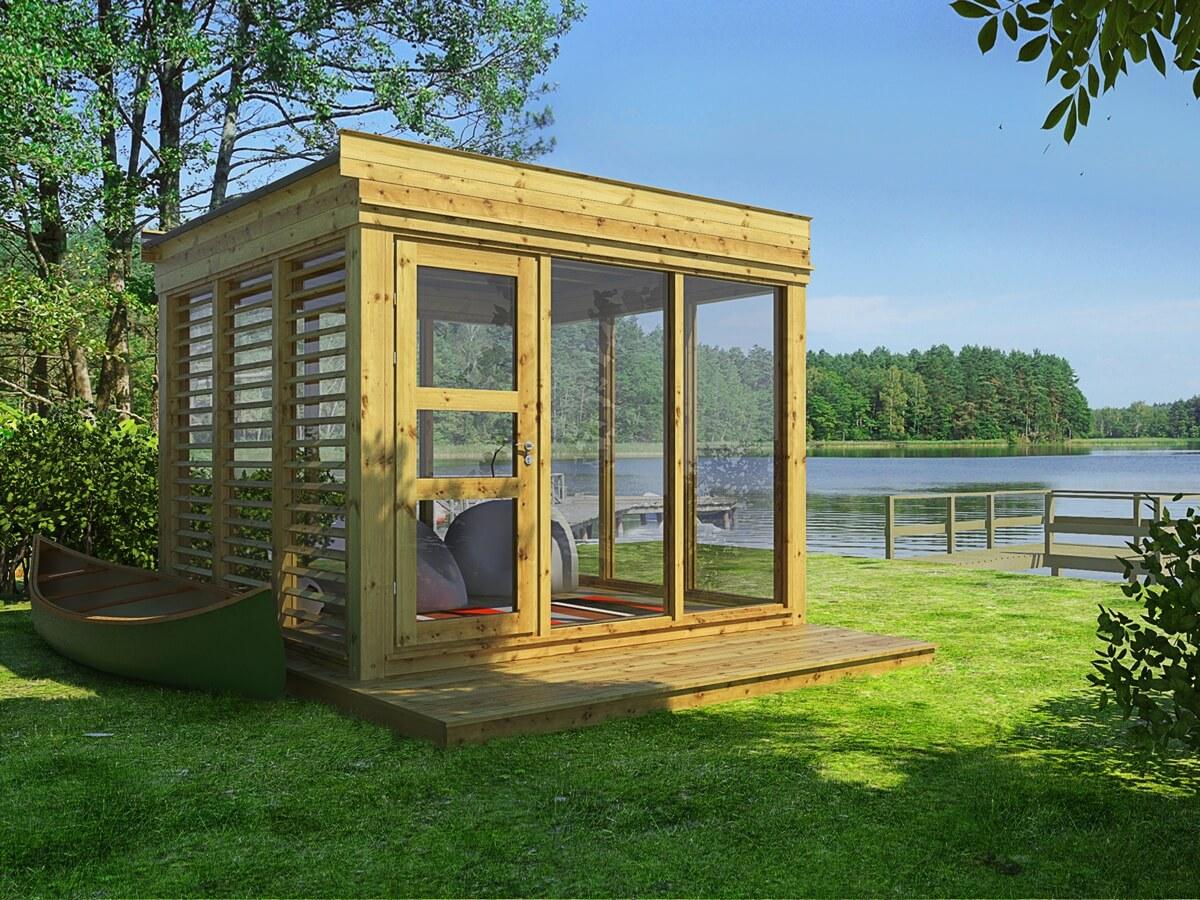 hagestue modul 3m x 3m. Black Bedroom Furniture Sets. Home Design Ideas