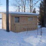 vedfyrt sauna funkis byggesett
