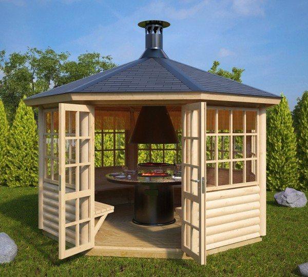 grillhytte zebib 9 5m2. Black Bedroom Furniture Sets. Home Design Ideas