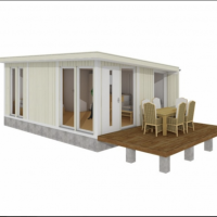 Minihus med veranda