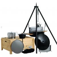 Popkongryte, gnistfanger, glosamler, trekk, stekehelle, suppegryte 6 L, og kaffekjele